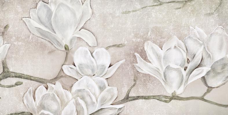 Flowers01 Quadro Moderno Su Tela Con Fiori Floreale Con